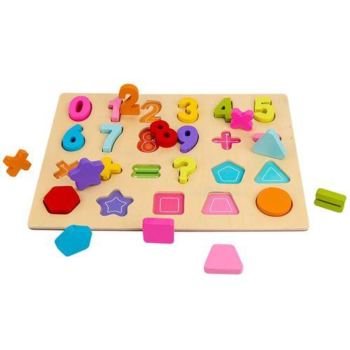 Puzzle Blocs de construction Conseil alphanumérique Illumination Scratch Board bébé Géométrie numérique - Multicolore