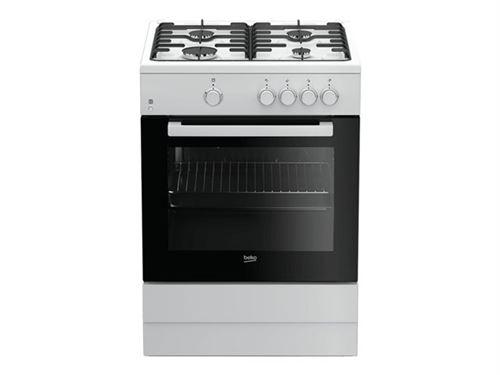 Beko FSG62000DWL - Cuisinière - pose libre - largeur : 60 cm - profondeur : 60 cm - hauteur : 85 cm - classe A - blanc