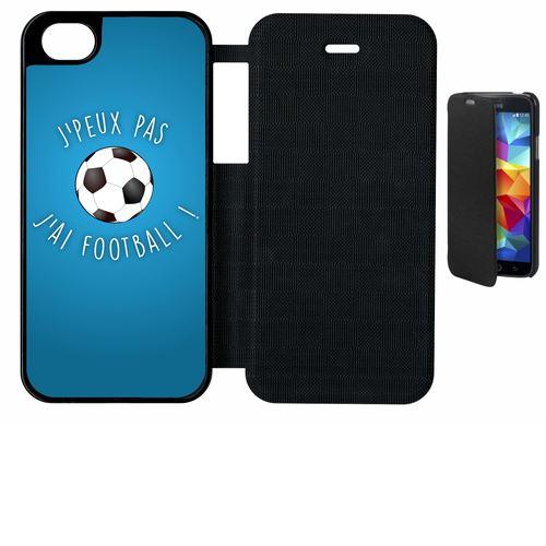 Etui A Rabat Flip Flap Apple Iphone 5s Je Peux Pas J Ai Football