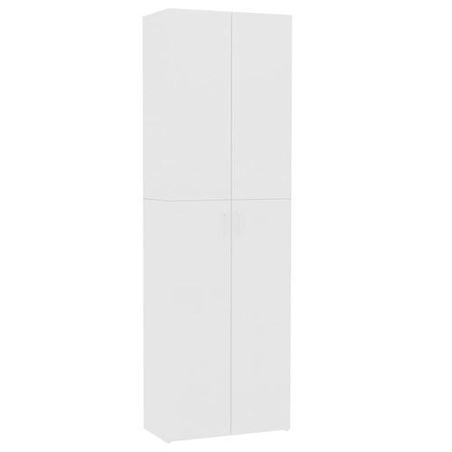vidaXL Armoire de bureau Blanc 60 x 32 x 190 cm Aggloméré