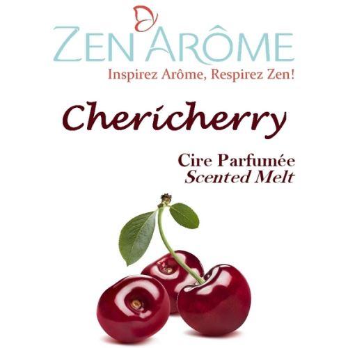 Cire parfumée senteur cerise cherry - blanc