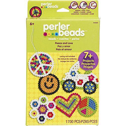 Perler Fused Kit de perles-Peace Love