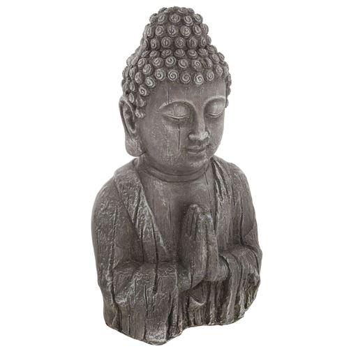 Statuette de Bouddha - H. 49 cm - Effet bois
