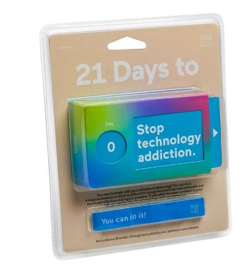 Doiy Tickets 21 Days To Stop Technology Addiction papier bleu