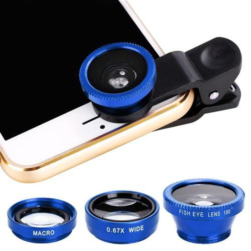 Objectif zoom Pour téléphone mobile , Tablet, appareil photo numérique - Bleu