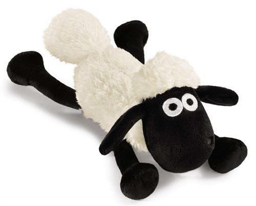 NICI 39661 Shaun Le Mouton couché, 20 cm, Blanc