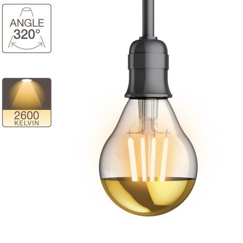 Ampoule LED A60 - culot E14 - vintage cover gold