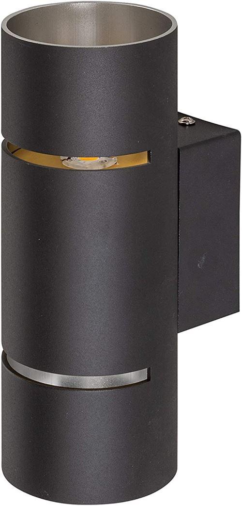 WOFI 430202109000 Wandleuchte, Métal, 9 W, Avanti, Noir [Classe énergétique A]