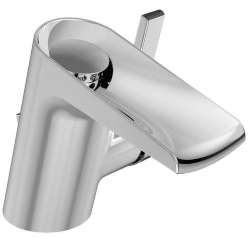 Ideal Standard - Mitigeur lavabo monotrou bec fixe écoulement en cascade chromé 125mm