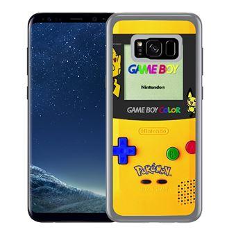 Coque pour Samsung Galaxy S8 game boy color pikachu jaune pokémon