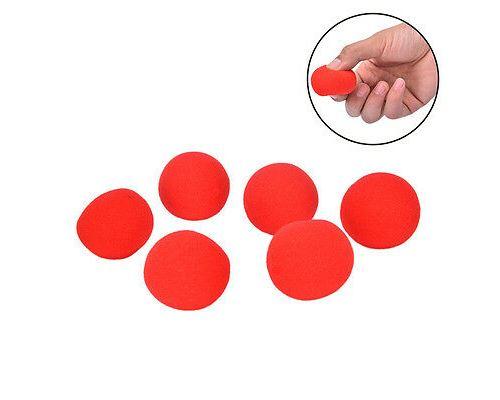 1pcs 4.5cm Doigts magie accessoires doux rouge boule éponge gros plan comédie astuces TWYJ