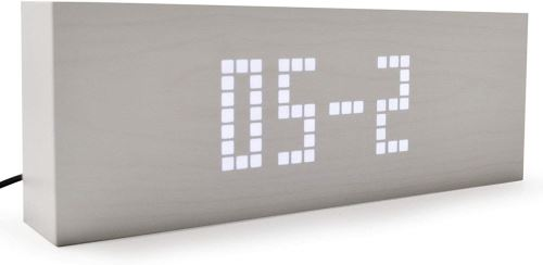MESSAGE - horloge blanche / leds blanches