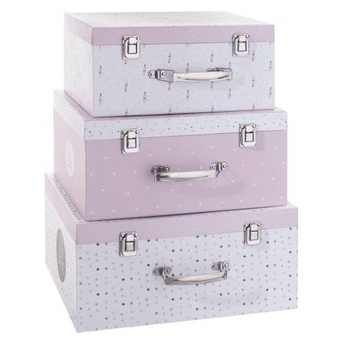 Lot de 3 malles de rangement My little box rose