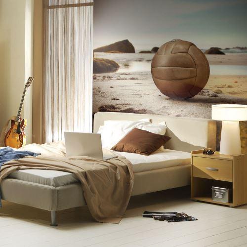 Papier peint | Un ballon de volley sur la plage | 350x270 | Paysages | Mer |