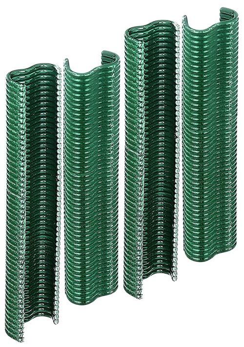 Gah-Alberts 530969 Agrafes revêtement plastique Vert largeur 22 mm