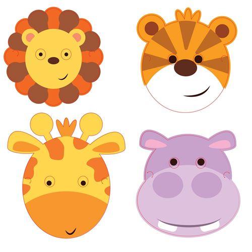 Amscan masques animaux de la jungle 8 pièces