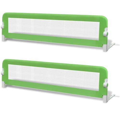 vidaXL Barrière de lit de sécurité pour tout-petits 2pcs Vert 150x42cm