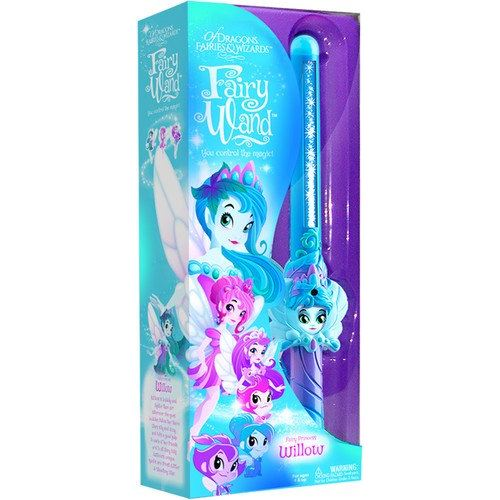 Of Dragons Fairies and Wizards Fairy Willow Hand Held Wand Blue