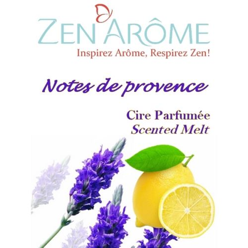 Cire parfumée senteur notes de provence - blanc