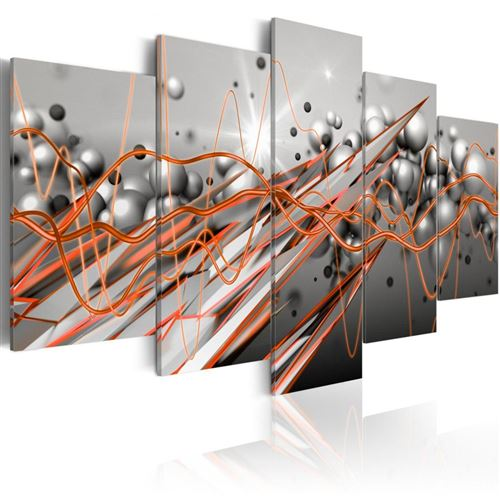 Artgeist - Tableau - Orange Stream 100x50