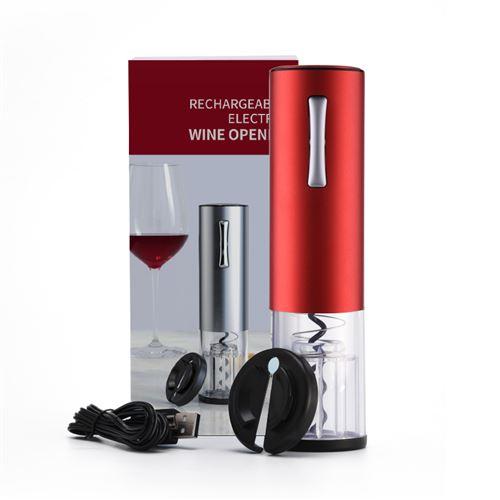 RhoneStar Tire bouchon électrique sans fil avec Recharge USB Décapsuleur Électrique Ouvre bouteille Automatique-Couleur Rouge