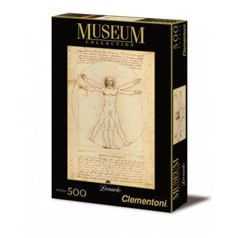 Puzzle 500 Pièces : Léonard De Vinci : L'Homme de Vitruve, Clementoni