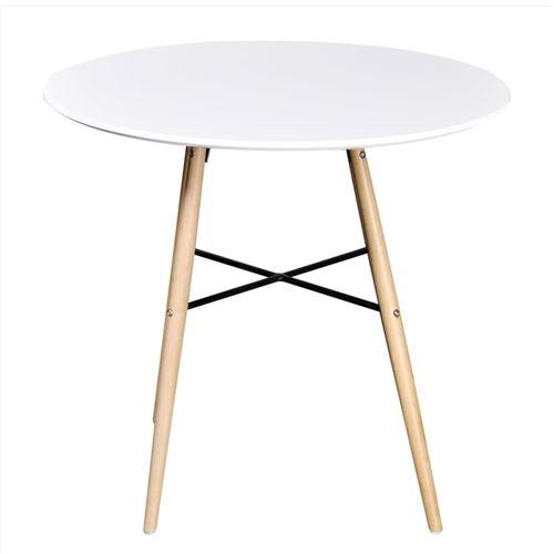 salle manger ronde Table MDF vidaXL de à Blanc N0wOk8PXnZ