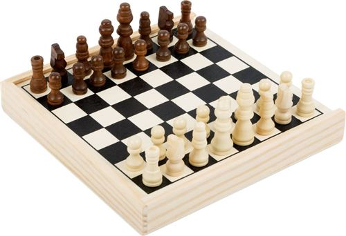 Jeu d'échecs en bois format voyage - 11209