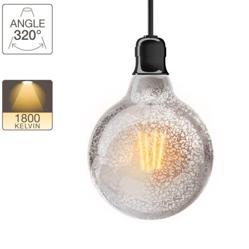 Ampoule LED G95 - culot E27 - vintage antique