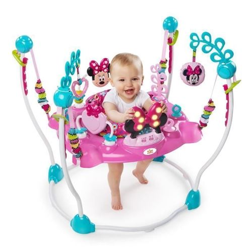 MINNIE Aire dEveil a Rebonds Rose - Disney Baby