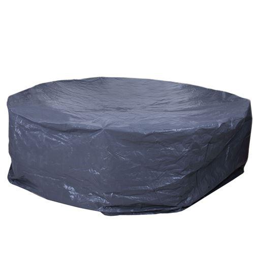 Housse de protection pour garnitures de jardin, bâche ~ anthracite Ø 300 cm