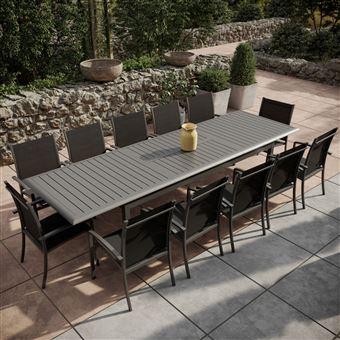Avril Paris - Table de jardin extensible aluminium 220/320cm ...