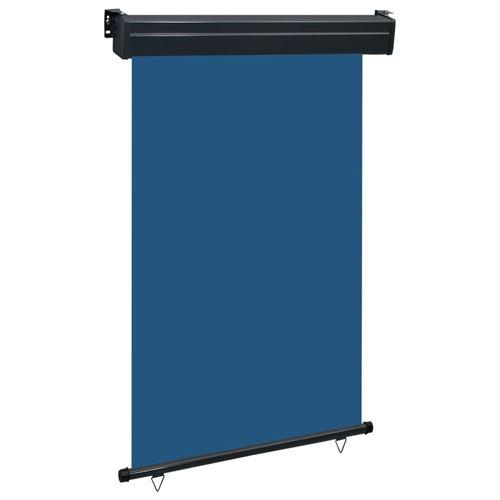 vidaXL Auvent latéral de balcon 120x250 cm Bleu