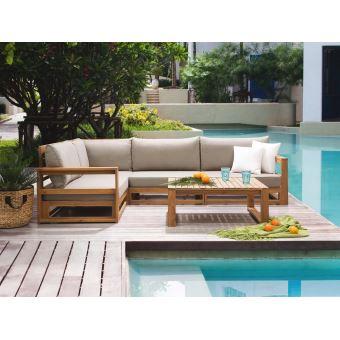 Beliani - Salon de jardin - Meubles en bois d acacia - Ensemble de terrasse  - Timor