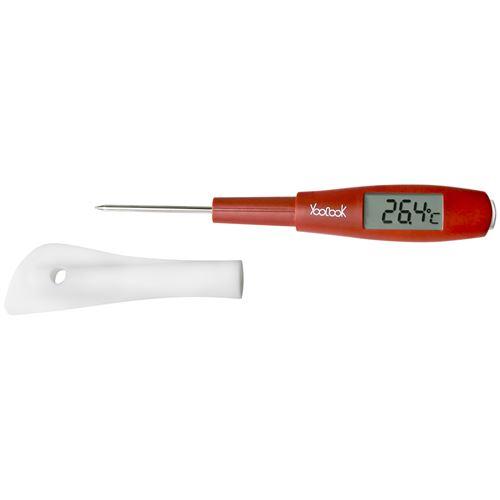 Spatule thermomètre rouge - Ustensile de cuisine à affichage digital - YouCook