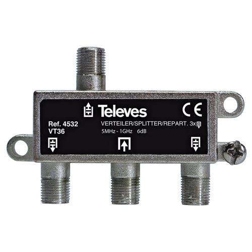 Televés F3144532 Répartiteur Catv 6 Db / 5-1000 Mhz - 3 sorties