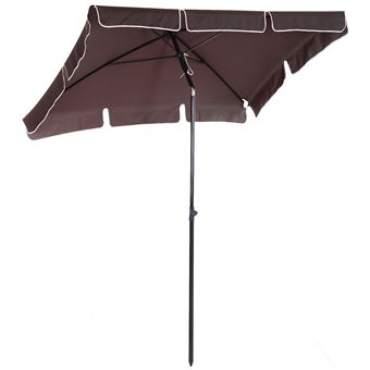parasol rectangulaire inclinable mobilier de jardin. Black Bedroom Furniture Sets. Home Design Ideas