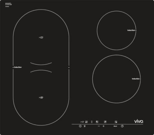 table de cuisson induction 60cm 4 feux 6800w noir - vvk26i55c0