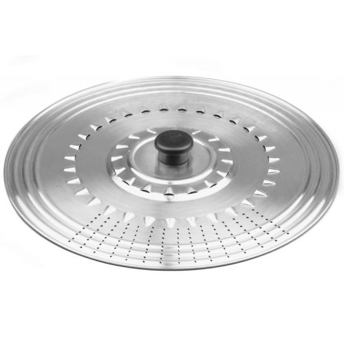 couvercle casserole perfore inox 22-24-26 cm ustensile cuisine