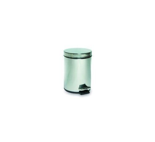 Poubelle à Pédale 5 L Inox Brossé - 18 cm 500 cl