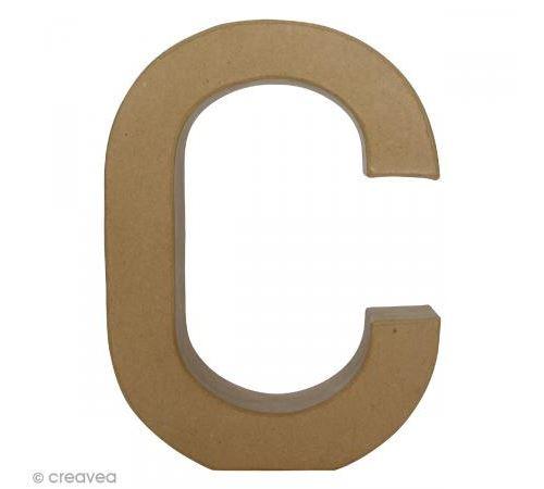 Lettre fantaisie C - 21,5 x 30 cm