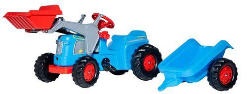 Rolly Toys Tracteur à pédales RollyKiddy Classic bleu / rouge