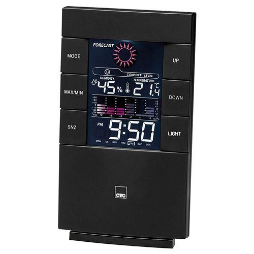 CTC WSU 7024 Station météo multifonctionnelle avec Horloge et écran LCD Couleur (avec éclairage comm