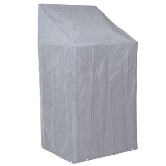 Housse De Protection Pour Chaises Gaine Gris 150 110x70x70cm