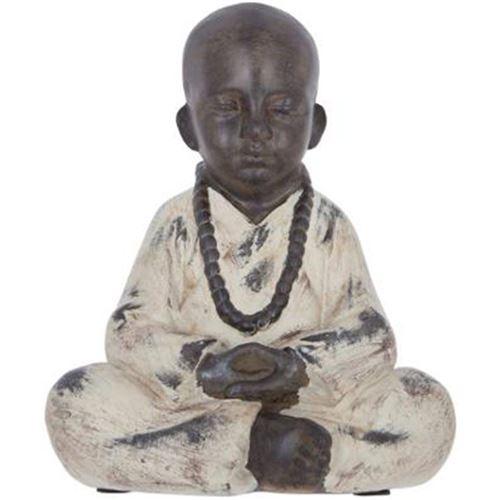 Statuette de Bouddha Assis Résine 22cm Noir