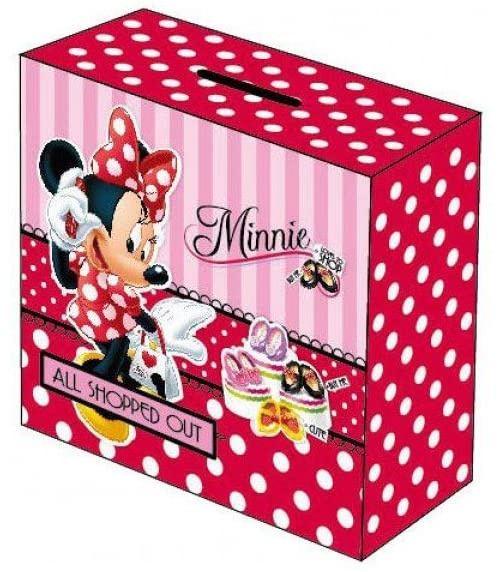 Disney tirelire Minnie Mouse filles 10 cm bois rouge/rose
