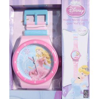 Montre geante disney princesses - horloge murale - ameublement et  decoration de chambre enfant