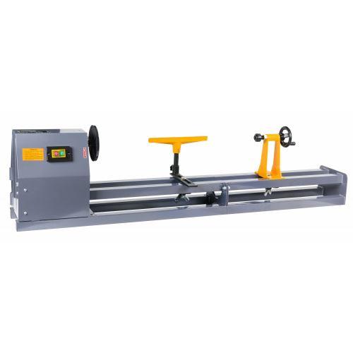 POWER TOOL   Tour à bois compact 600W/230V 4 vitesses   Longueur maxi 1000mm   Usinage bois atelier bricolage chantier   Gris