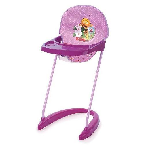 Chaise haute maya l abeille pour poupee - hauteur de l assise : 35 cm - pour poupons jusqu a 42 cm - accessoire - mobilier