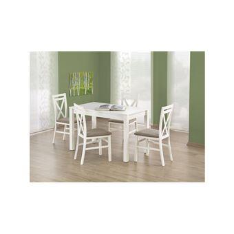 120x68x76 JUSTyou manger Ksawery Table a Blanc salle Achat 1JFKcl